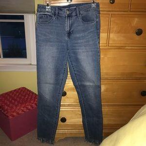 Old Navy Rockstar Fringe Jeans!